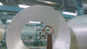 I fili del primo piano attraversano l'anello guidante nella pianta archivi video