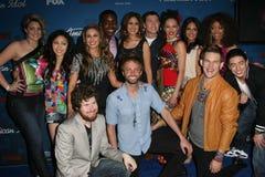 I finalisti americani dell'idolo all'idolo americano condicono 10 finalisti del principale 13 Party, il boschetto, Los Angeles, il Fotografie Stock Libere da Diritti