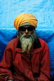 Portrait of sadhu in kumbh mela Stock Photography