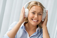 I find my motivation  and energy in music Stock Images