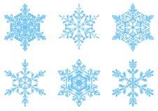 I fiocchi di neve attuali Fotografie Stock