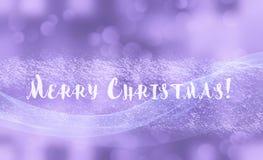 I fiocchi di neve brillanti dell'inverno hanno offuscato il fondo nei colori bianchi blu-chiaro Fondo confuso di festa di Natale  illustrazione vettoriale