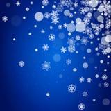 I fiocchi di neve confinano per il Natale Immagine Stock Libera da Diritti