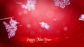 Fiocchi Di Neve Di Carta 3d : I fiocchi di neve decorativi 3d cadono su un fondo rosso uso come la
