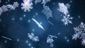 I fiocchi di neve di Natale avvolgono royalty illustrazione gratis