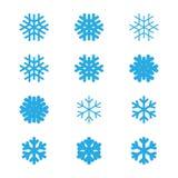 I fiocchi di neve vector l'insieme Immagine Stock