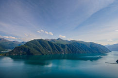 I fiordi norvegesi Fotografia Stock