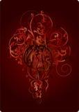 I fiori di colore rosso Immagine Stock