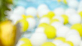 I fiori ed i palloni gialli sono nell'iarda video d archivio