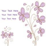 I fiori rosa scarabocchiano il vettore per la carta o l'invito Fotografie Stock Libere da Diritti