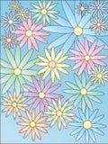 I fiori stilizzati Fotografia Stock Libera da Diritti
