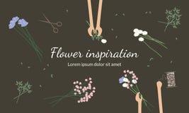 I fioristi creano i mazzi del fiore Fotografia Stock