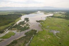I fiumi ed i laghi dall'altezza Fotografie Stock