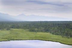 I fiumi ed i laghi dall'altezza Fotografia Stock