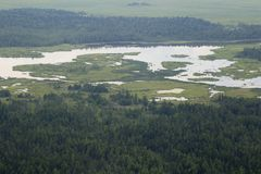 I fiumi ed i laghi dall'altezza Fotografia Stock Libera da Diritti