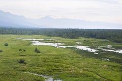 I fiumi ed i laghi dall'altezza Immagini Stock