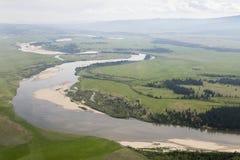 I fiumi ed i laghi dall'altezza Fotografie Stock Libere da Diritti