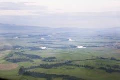 I fiumi ed i laghi dall'altezza Immagine Stock