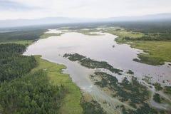 I fiumi ed i laghi dall'altezza Immagini Stock Libere da Diritti