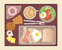 I flykten äta middag stock illustrationer