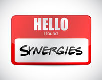 I fond synergies name tag illustration design Stock Photography