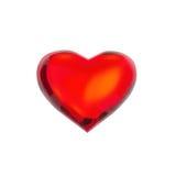 I form av hjärta Abstrakt begrepp i form av hjärta som isoleras på en vit bakgrund Royaltyfri Bild