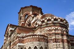 I forntida stad av den Nessebar Bulgarien Arkivfoto