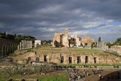 I forum imperiali sono le serie di monumentale per piazze pubbliche Fotografie Stock