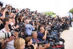 I fotografi assiste al photocall della giuria fotografie stock