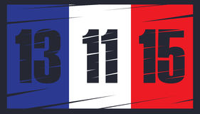I francesi diminuiscono su fondo scuro Immagini Stock