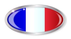 I francesi inbandierano il bottone ovale Immagini Stock