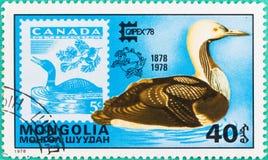 I francobolli erano stati stampati in Mongolia Fotografie Stock Libere da Diritti