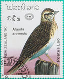 I francobolli erano stati stampati nel Laos Immagine Stock Libera da Diritti