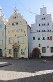 I fratelli architettonici del complesso tre a Riga, Lettonia immagine stock
