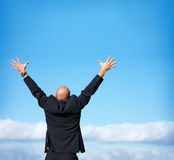 I am free - Businessman showing freedom Stock Image