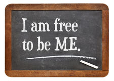 I am free to be ME Stock Image