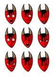 I fronti dei diavoli Royalty Illustrazione gratis