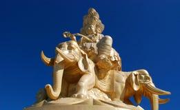 I fronti di Buddha dorato ed undicesimi di Emei Fotografia Stock