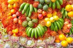 I frutti e la decorazione dei fiori al Madera fioriscono il festival, Portogallo Immagini Stock Libere da Diritti