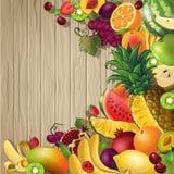 I frutti hanno colorato il fondo Immagine Stock Libera da Diritti
