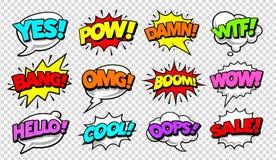 I fumetti comici schioccano Art Vector Set illustrazione vettoriale