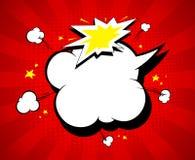 I fumetti vuoti contro rosso rays il contesto Immagini Stock