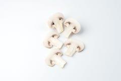 I funghi bianchi affettati Immagini Stock Libere da Diritti