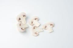 I funghi bianchi affettati Immagine Stock