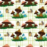 I funghi modellano nell'erba Immagine Stock Libera da Diritti