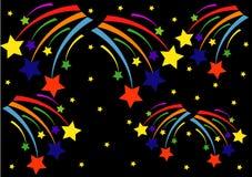 I fuochi d'artificio astratti su un fondo nero Immagini Stock