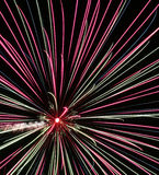 I fuochi d'artificio, colorati spruzza Fotografia Stock Libera da Diritti