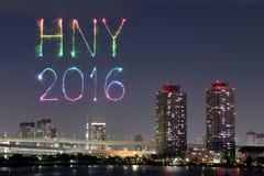 I fuochi d'artificio da 2016 buoni anni che celebrano sopra il cityscap di Tokyo, J Immagine Stock