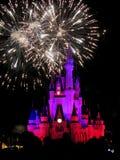 I fuochi d'artificio famosi di spectacular di notte di desideri Immagini Stock Libere da Diritti
