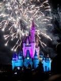 I fuochi d'artificio famosi di spectacular di notte di desideri Fotografie Stock Libere da Diritti
